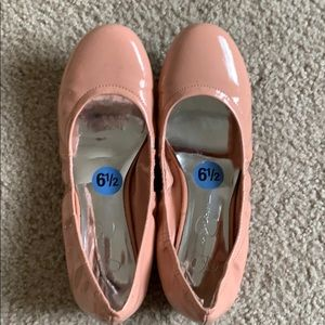 Jessica Simpson Pink Leather Flats